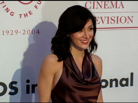 sasha alexander at the usc school of film and television's 75th anniversary gala at hobart auditorium in los angeles california on september 26 2004 - 75th anniversary stock videos & royalty-free footage
