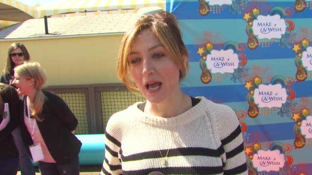 Sasha Alexander on why she wanted to be a part of the afternoon what she appreciates about the Make A Wish Foundation why giving back is important to...