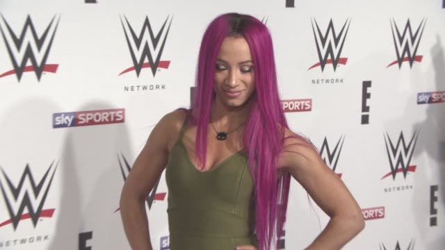 Sasha Banks at WWE RAW Pre Show Party on April 18 2016 in London England
