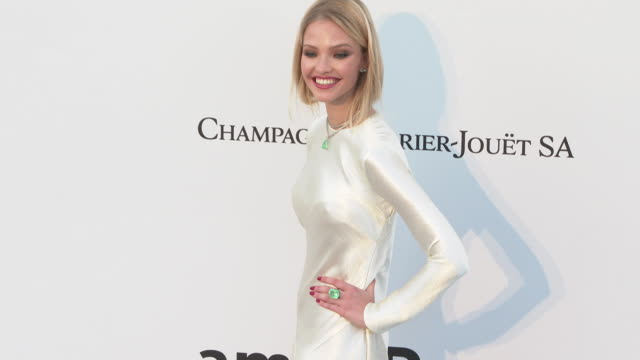 Sasha Luss at the amfAR Cannes Gala 2019 Arrivals at Hotel du CapEdenRoc on May 23 2019 in Cap d'Antibes France