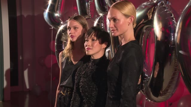 sasha pivovarova sandra choi and amber valletta at jimmy choo 20th anniversary event during new york fashion week at tbd on september 08 2016 in new... - amber valletta stock videos and b-roll footage