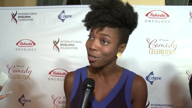 interview sasheer zamata at the wilshire ebell theatre on november 03 2018 in los angeles california - wilshire ebell theatre stock videos & royalty-free footage