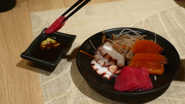 Sashimi bar Japanese Food at Japanese restaurant