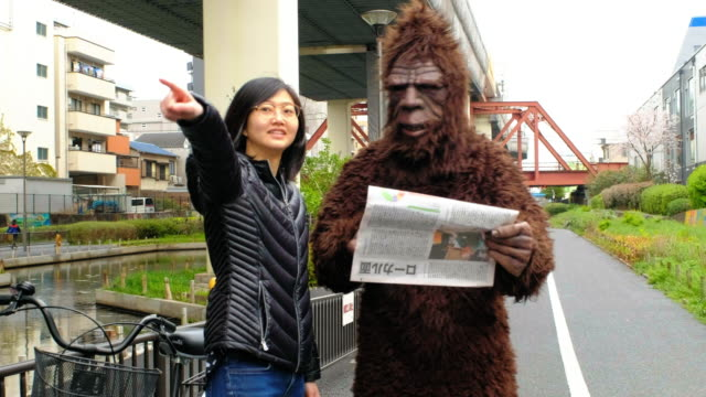 sasquatch in tokyo japan - lost stock videos & royalty-free footage