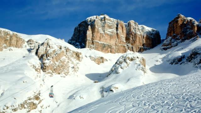 sass pordoi mountain, val di fassa, dolomites, italy - val di fassa stock videos and b-roll footage