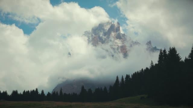 Sasslong mountain on Dolomites
