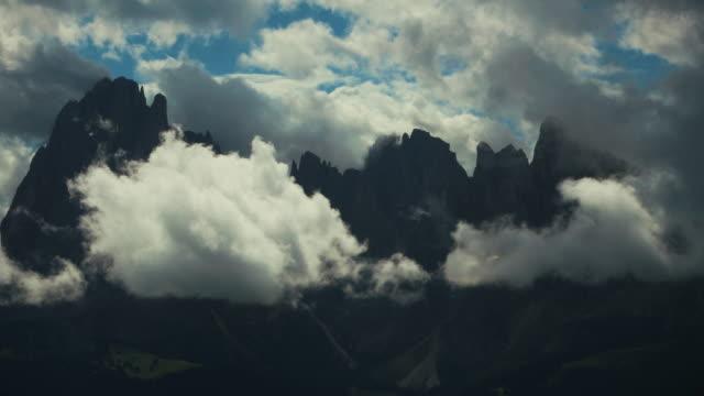 sasslong mountain on dolomites - siusi stock videos & royalty-free footage