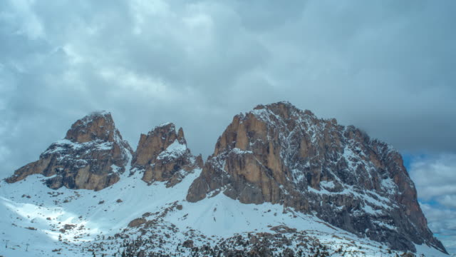 sasso longo mountain / dolomites in italy - langkofel stock videos & royalty-free footage