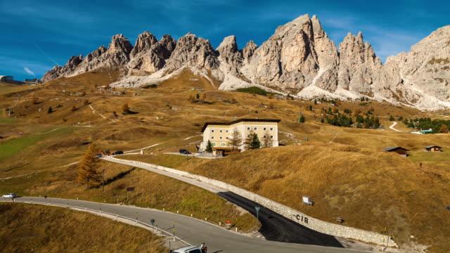 Sassopiatto mountains, Location Dolomiti alps in Val Gardena, South Tyrol, Bolzano province, Italy