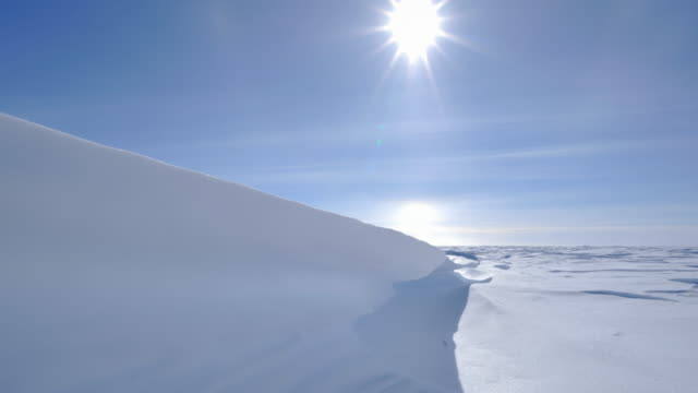 sastrugi snow formations in antarctica caused by wind errosion - south pole stock videos & royalty-free footage
