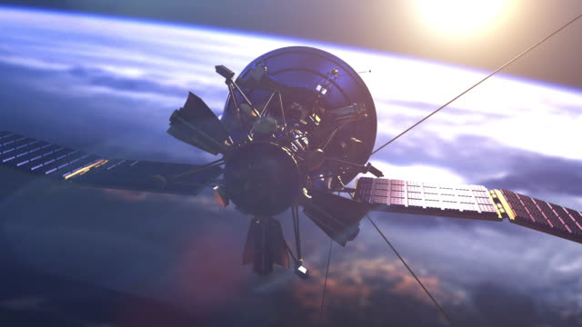 satellite above earth - 人工衛星点の映像素材/bロール