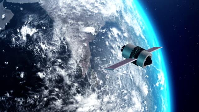衛星地球の大気 - 人工衛星点の映像素材/bロール
