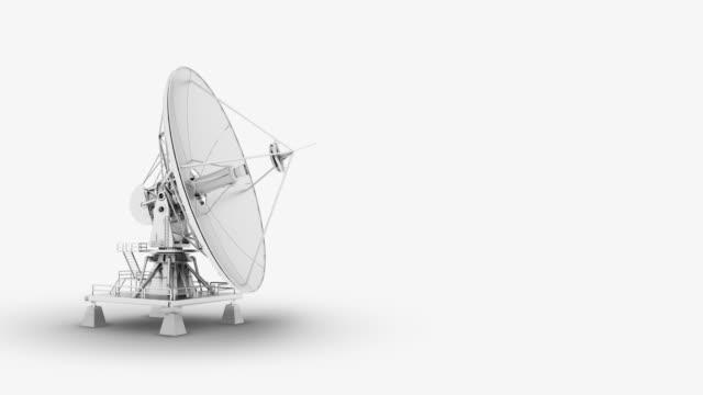 satellite dish - astronomical telescope stock videos & royalty-free footage