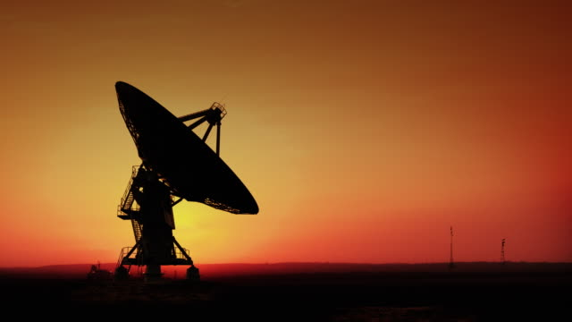 satellite dish - radio telescope stock videos and b-roll footage