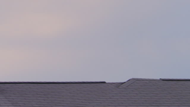 vidéos et rushes de satellite dishes on roof, pan - parpaing