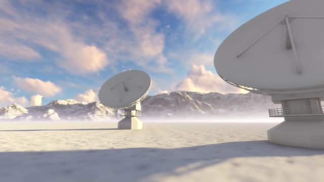 satellite ground station - astronomy telescope stock videos & royalty-free footage