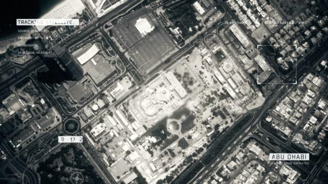 satellite image of abu dhabi - zoom in stock videos & royalty-free footage