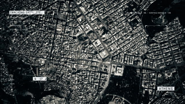satellite image of athens - athens greece stock videos & royalty-free footage
