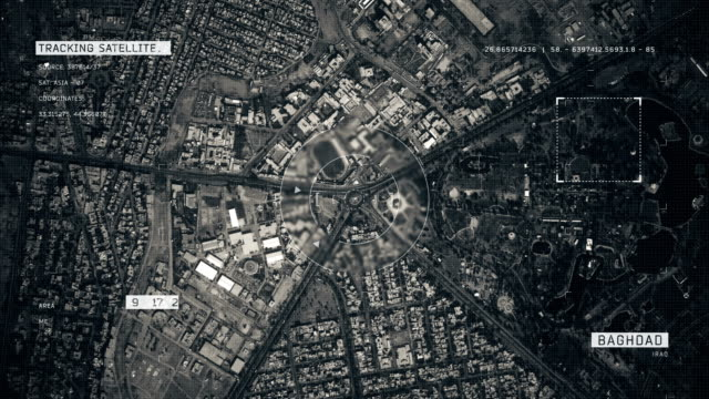 satellite image of baghdad - baghdad stock videos & royalty-free footage