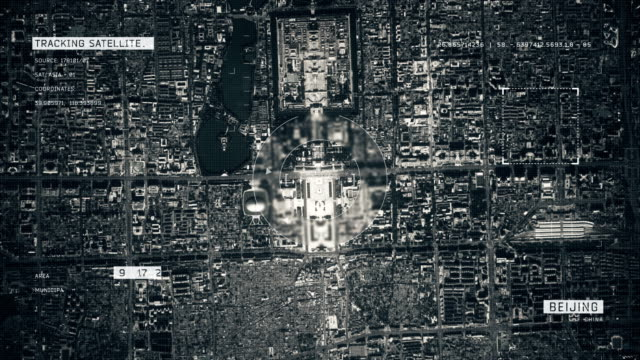 satellite image of beijing - military stock videos & royalty-free footage