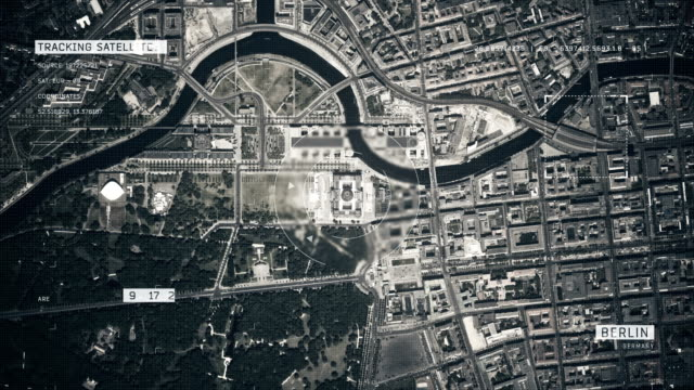 satellite image of berlin - zoom in stock videos & royalty-free footage