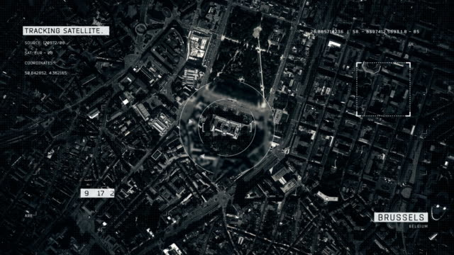satellite image of brussels - zoom in stock videos & royalty-free footage