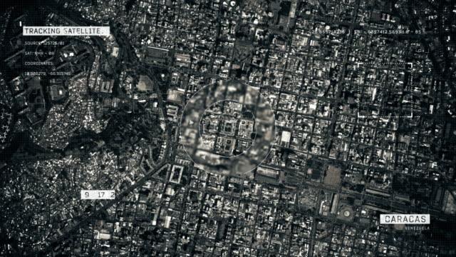 satellite image of caracas - caracas stock videos & royalty-free footage