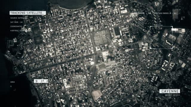 stockvideo's en b-roll-footage met satellietbeeld van cayenne - french overseas territory