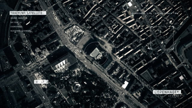 satellite image of copenhagen - denmark stock videos & royalty-free footage