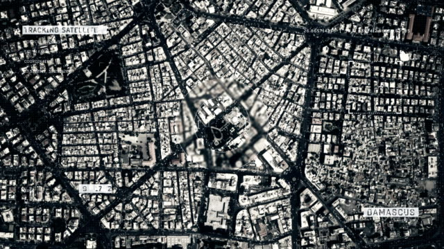 satellite image of damascus - syria stock videos & royalty-free footage