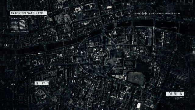 satellite image of dublin - dublin republic of ireland stock videos & royalty-free footage