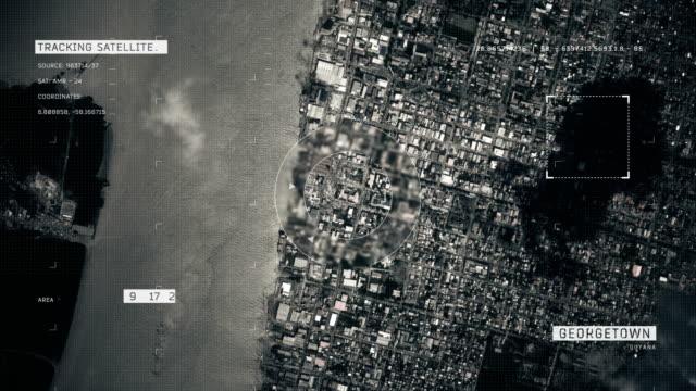 satellite image of georgetown - guyana stock videos & royalty-free footage