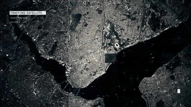 satellite image of istanbul - istanbul stock videos & royalty-free footage