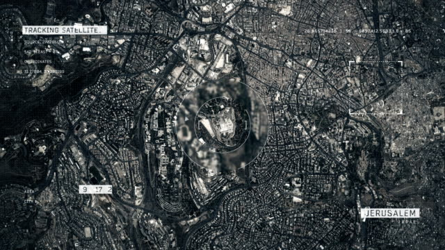 satellite image of jerusalem - jerusalem stock videos & royalty-free footage