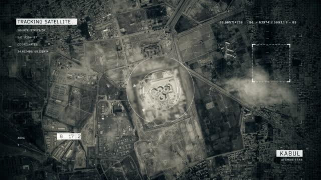 satellite image of kabul - afghanistan stock videos & royalty-free footage