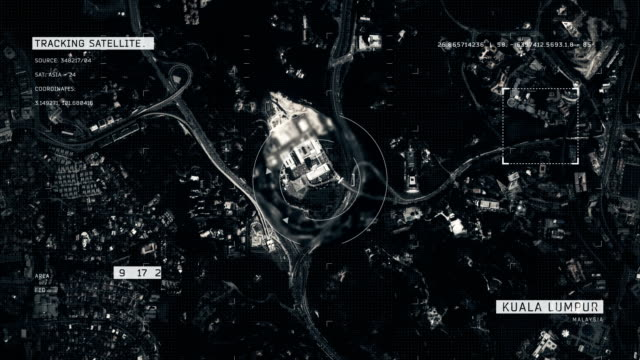 satellite image of kuala lumpur - malaysia stock videos & royalty-free footage