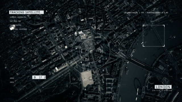 satellite image of london - uk video stock e b–roll