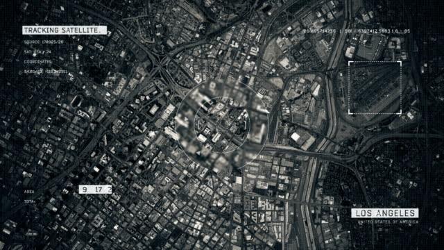 satellitenbild von los angeles - hollywood los angeles stock-videos und b-roll-filmmaterial