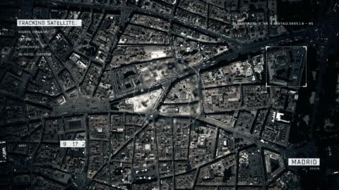 satellite image of madrid - madrid stock videos & royalty-free footage