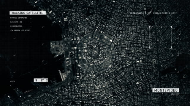 satellite image of montevideo - montevideo stock videos & royalty-free footage