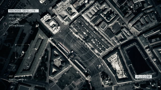 satellite image of moscow - satellite view stock videos & royalty-free footage