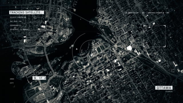 satellite image of ottawa - zoom in stock videos & royalty-free footage
