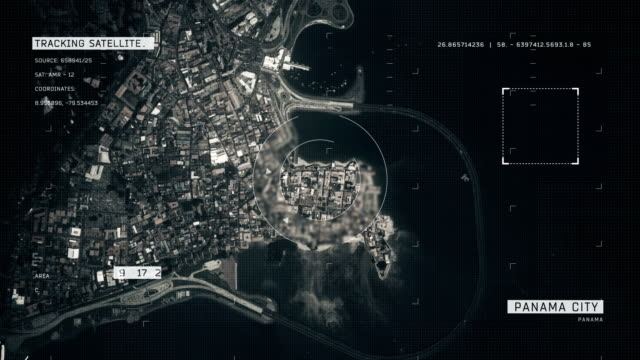 satellite image of panama city - panama canal stock videos & royalty-free footage