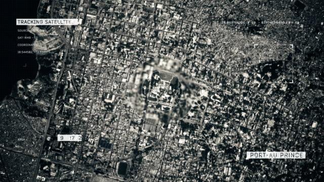 stockvideo's en b-roll-footage met satellietfoto van port-au-prince - haïti