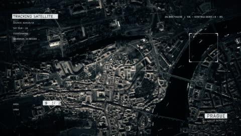 satellite image of prague - czech republic stock videos & royalty-free footage