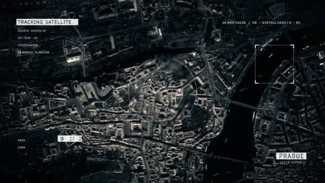 vídeos de stock e filmes b-roll de satellite image of prague - república checa