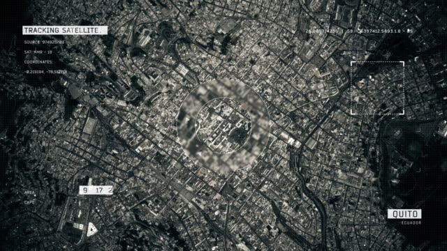 satellite image of quito - ecuador stock videos & royalty-free footage