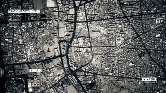 リヤドの衛星画像 - ズームイン点の映像素材/bロール