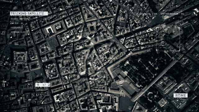 satellite image of rome - satellite video stock e b–roll