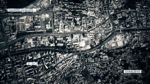 satellite image of sarajevo - bosnian war stock videos & royalty-free footage